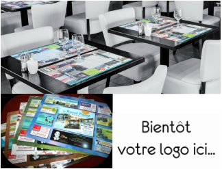 set de table publicitaire imprim signpub. Black Bedroom Furniture Sets. Home Design Ideas