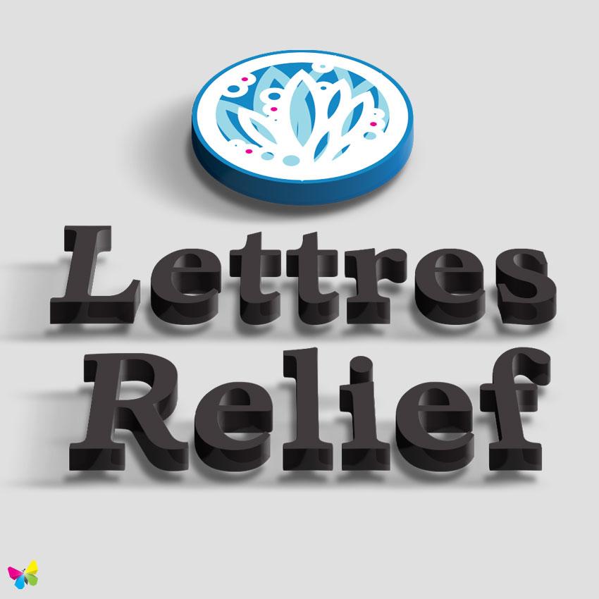 Signpub lettres en relief - Decoration lettre murale relief ...