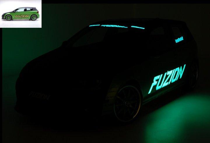 flocage pub auto lumineux