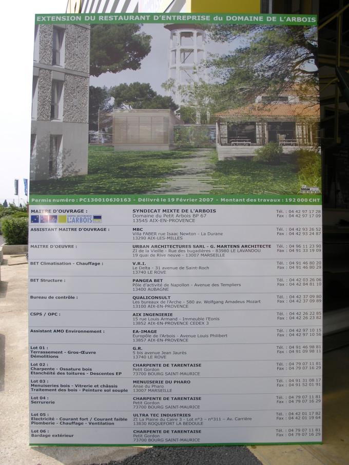 panneau de chantier akilux btp personnalisé