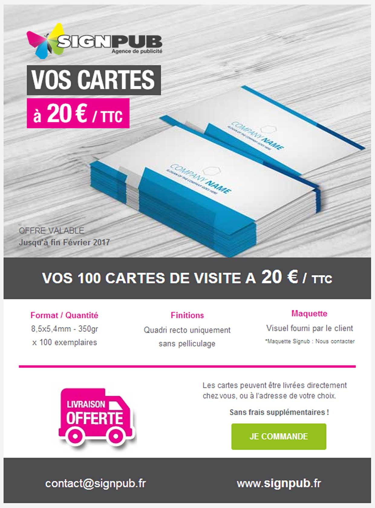 PROMOTION 100 Cartes A 20 EUR