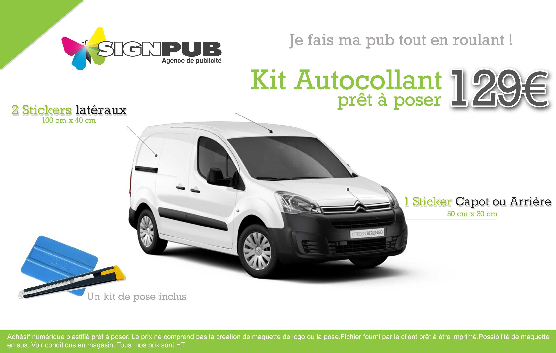 votre kit publicitaire autocollant pour votre véhicule